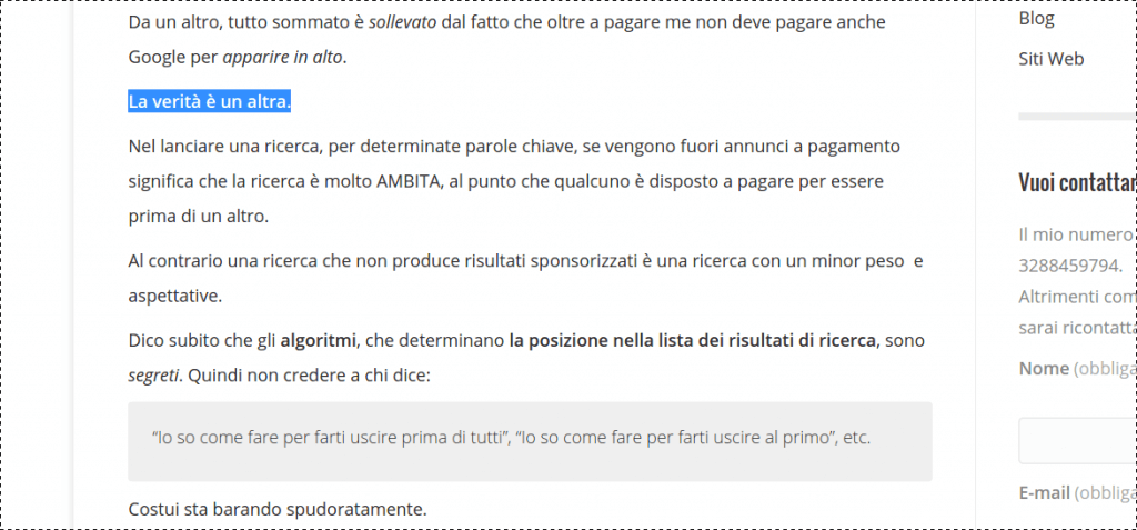 AdWords link sponsorizzati - francescodattolo.it